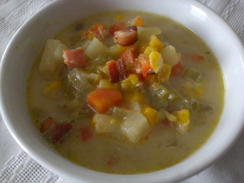 Corn Chowder with Pancetta2