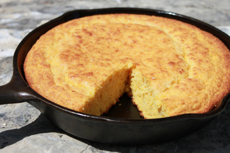 Find your old cast iron skillet, and let's make some cornbread!