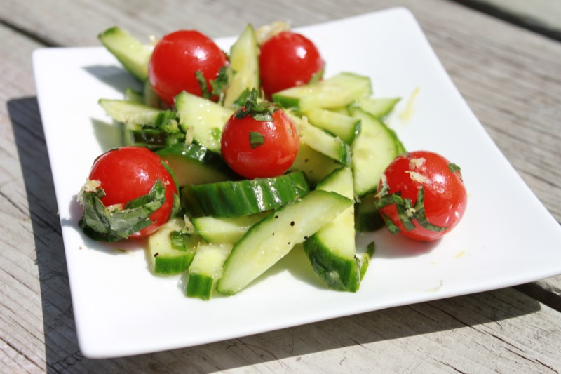 Cucumber Salad with Lemon and Basil1