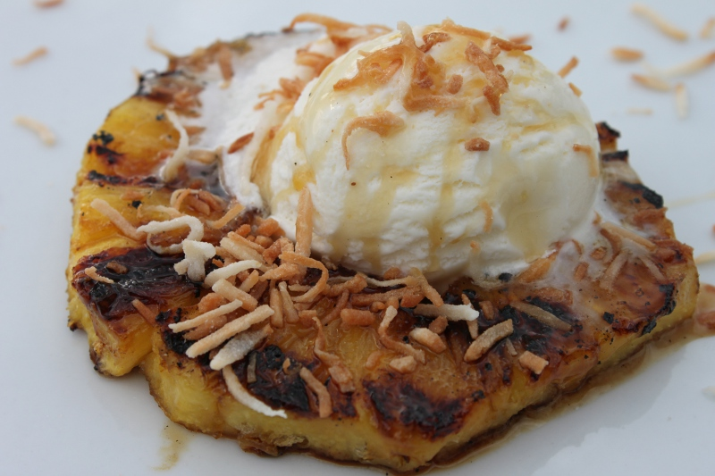 Grilled Rum Pineapple with Coconut Sorbet - GlutenFreeClub