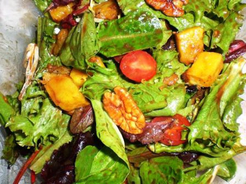 Mixed Green Salad with Honey Mustard Vinaigrette3