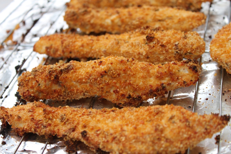 Parmesan-Crusted Chicken Strips1