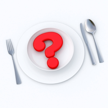 Plate with Question Mark