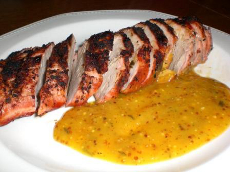Pork Tenderloin with Orange Mustard Sauce