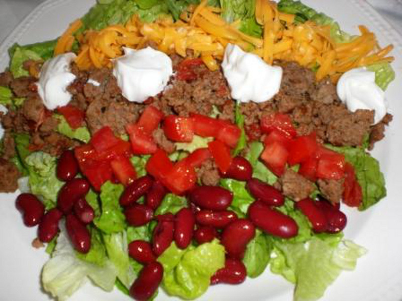 Taco Salad with Russian Dressing