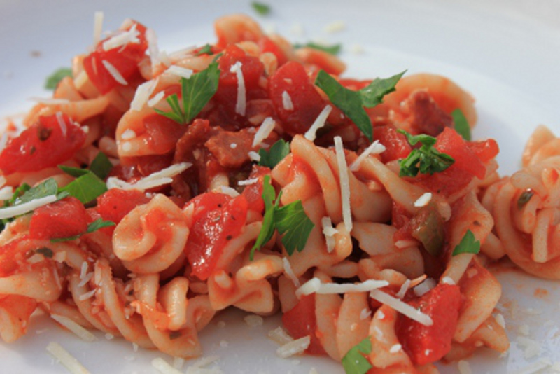 Tomato, Bacon & Cheese Pasta2