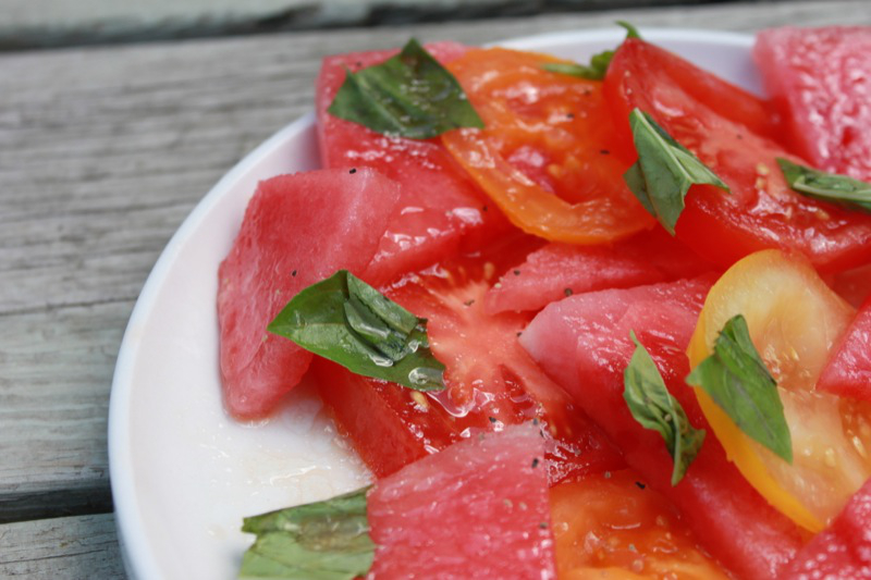 Watermelon Tomatoe Salad